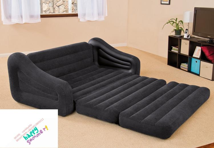 Delicieux Wholesale Intex 68566 Qeen Sleep Sofa Inflatable 2 In 1 Pull Out Sofa+2  Person Inflatable Couch Dorm Chair +Waterproof Flocked Sofa Bed Replacement  Cushions ...