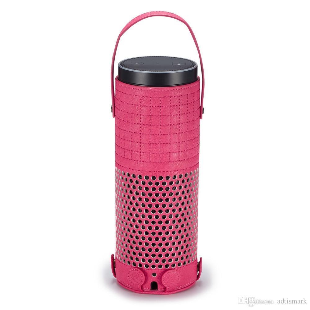 Hohe Qualität PU-Leder Tragetasche für Echo Plus Lautsprecher Sleeve Bag Pouch Handtasche Aufbewahrungsbox