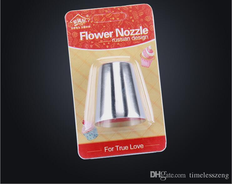 36 estilo 430 de Acero Inoxidable Ruso Tulip Boquillas Fondant Icing Piping Tips Pastelería Tubos Set Herramientas de decoración de Pasteles Rose Flower Shaped