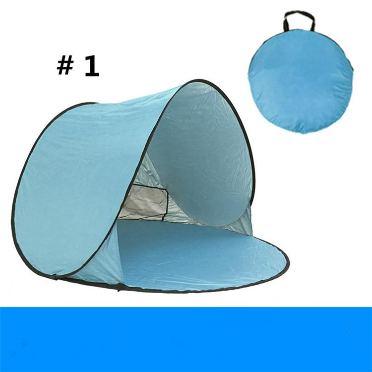 Hottest Sale Quick Automatic Opening Outdoors Tents 50+ UV Protection Outdoor Gear Camping Shelters Tent Beach Travel Lawn Multicolor