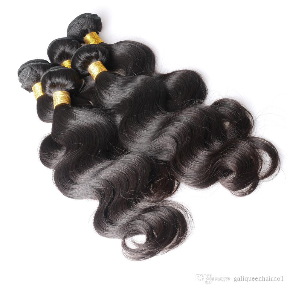 Mink brasilianische gerade Menschen Jungfrau-Haar Weaves 100g / pc / doppelte Tressen natürliche schwarze Farbe Mensch Remy Haar-Verlängerungen