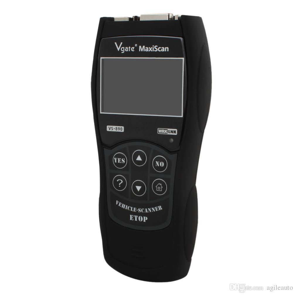 OBD2 Auto Scanner Vgate VS890 Maxiscan Lector de códigos de falla Herramienta de escaneo de diagnóstico VS-890 PK ELM327 V1.5 OBD 2 OBDII VS 890 CEC_A0D