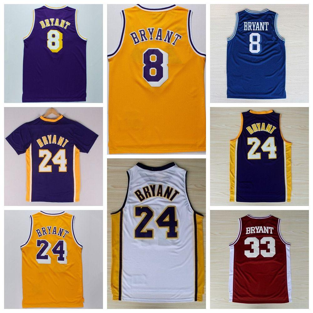 c35dca88227 ... Top Quality 24 Kobe Bryant Jersey 8 Throwback High School Lower Merion  33 Kobe Bryant Basketball ...
