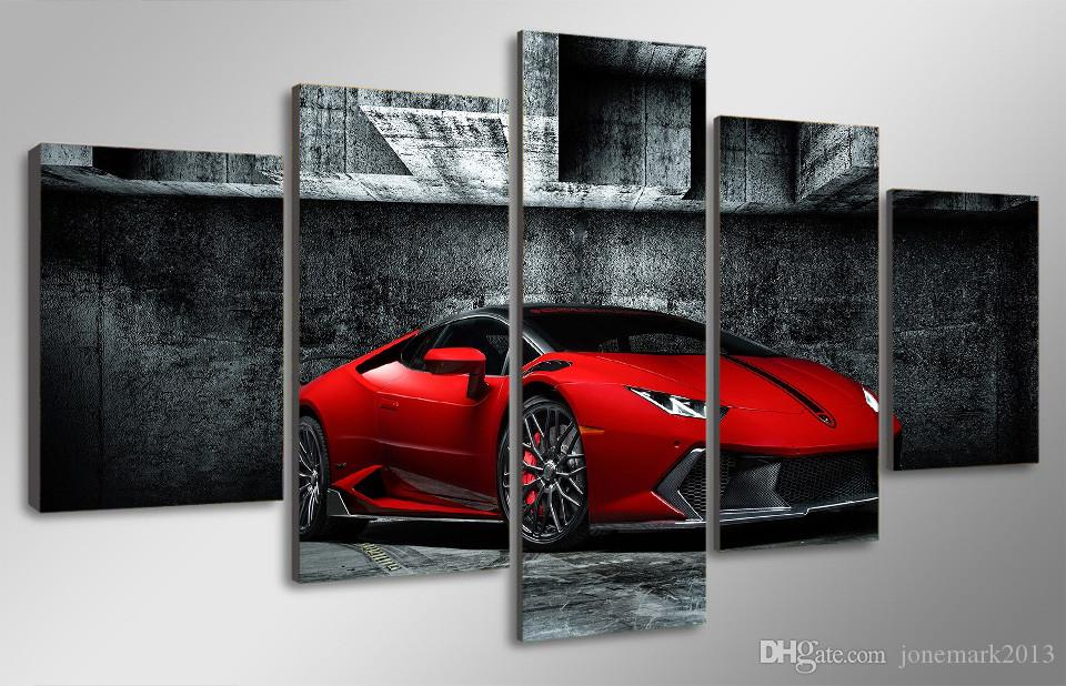 Framed HD Printed Luxury Super Sports Car Drift Picture Wall Art Canvas Print Decor Poster Canvas Oil Painting