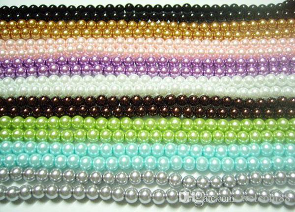 / lâche perles en verre pour les bijoux de bricolage artisanat 8mm mélanger les couleurs MP05 livraison gratuite