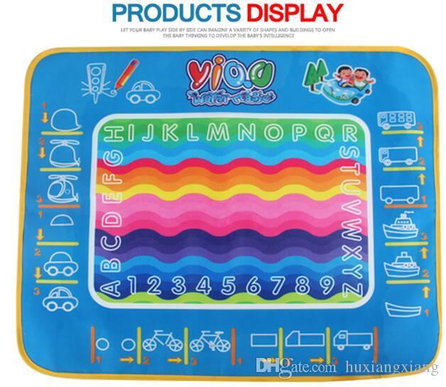 2017 Factory Wholesale-New Aqua Doodle Children's Drawing Toys Mat Magic Pen Educational Toy 1 Mat+ 1 Water Drawing Pen W17JS509