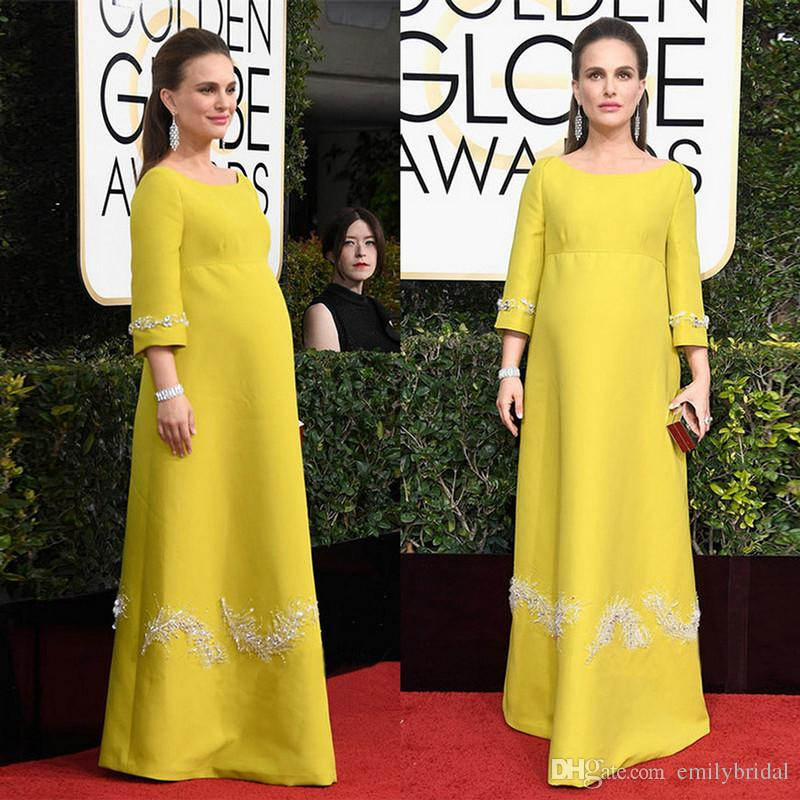 Yellow golden globe dresses