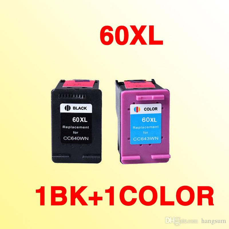 2x for HP60 ink cartridge for hp 60 60xl Deskjet 4400 F4440 F4480 F4435  4500 F4580 5500 D5560 D110a F2430 ENVY 120 printer