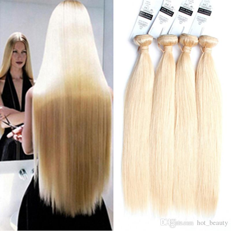Blonde Straight Hair 8a Brazilian Malaysian Peruvian Indian European