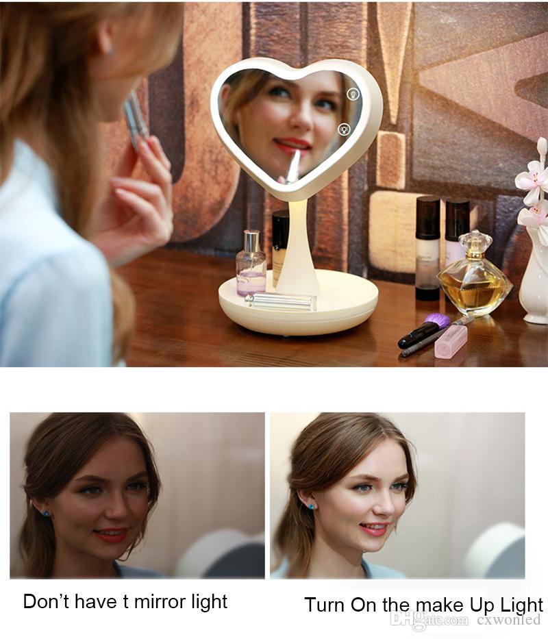 Espejo LED Make Up Light ABS USB Lámpara de espejo recargable de 4W LED Baño / Maquillaje Habitación / Dormitorio Espejo Lámparas
