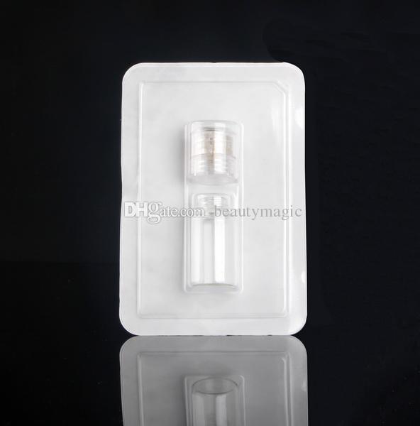 Coreia Derma Stamp Titanium Microneedle Com 20 Pinos Micro Agulha Dermastamp Micro Agulha Aplicador Garrafa De Vidro para Injeção De Soro Para A Pele