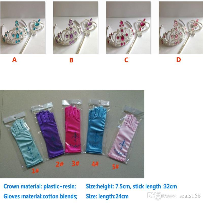 L 24cm Children Print Party Gloves Princess Gloves Cosplay Costume Dresses Dance Stage Gloves XMAS Gifts HH-G01