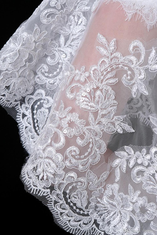 Gelinler için dantel Bolero Yarım Uzun Kollu Aplikler Boncuklu Kısa Ceket Düğün Sarar Şal Ucuz CPA969