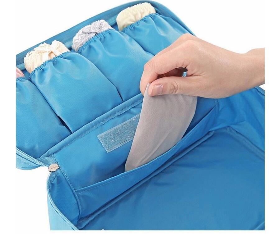 حقيبة سفر الملابس الداخلية 1 قطعة الصدرية حقيبة سفر للنساء المنظم رحلة حقيبة الأمتعة حقيبة السفر حقيبة الحقيبة حقيبة حقيبة التوقف