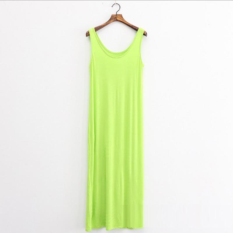/ tutti in forma estate Sundresses femminile Abito lungo donne Boho Beach casuale o collo senza maniche Large Size Vestiti Robe sexy