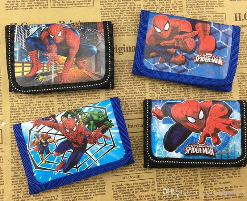 Venda quente Bonito Dos Desenhos Animados Coin Purse Crianças Zip Mudança Bolsa Carteira Filme Os Vingadores Crianças Menina Mulheres Bolsa DHL navio livre