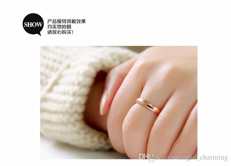En Kaliteli Titanyum Çelik 4mm Derinlik Yüksek Parlatma Parlak Kadın Yüzükler / Erkekler Moda Ucuz Aşk Yüzükler Boyutu 12 mevcut