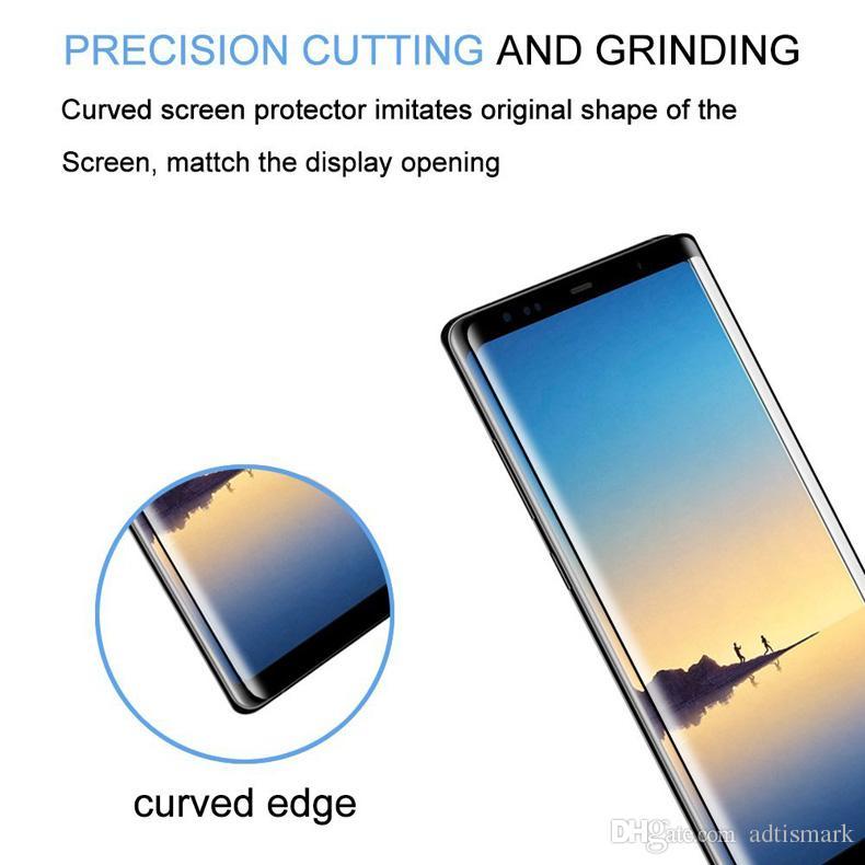 3d cobertura completa de vidro temperado para samsung galaxy note 8 protetor de tela para galaxy s8 s8 além de película protetora