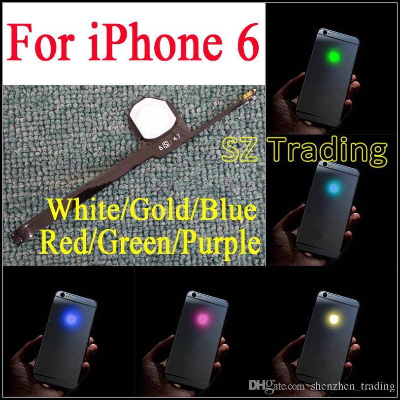 iPhone 6 LED Logo fai da te Luminescente LED Light Glowing Logo Mod Kit iPhone6 Back Housing Spedizione gratuita