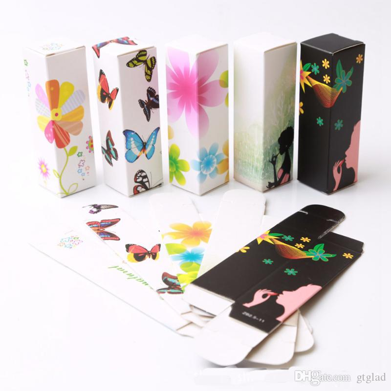 5G 5ml Lip Balm Tube Packaging Carton Box Lipstick Tube DIY Packing box 25*25*85mm