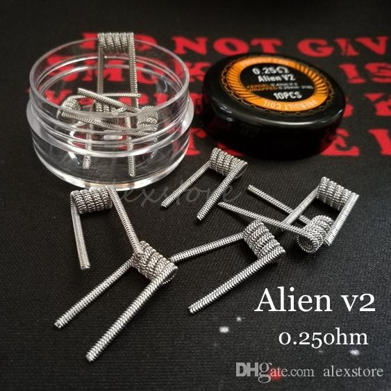 Alien v20 coils wire 025ohm 04mm3025mm 316l stainless steel alien v20 coils wire 025ohm 04mm3025mm 316l stainless steel material wave flat clapton premade wrap prebuilt wires for rda vape vaping wire gauge what keyboard keysfo Image collections