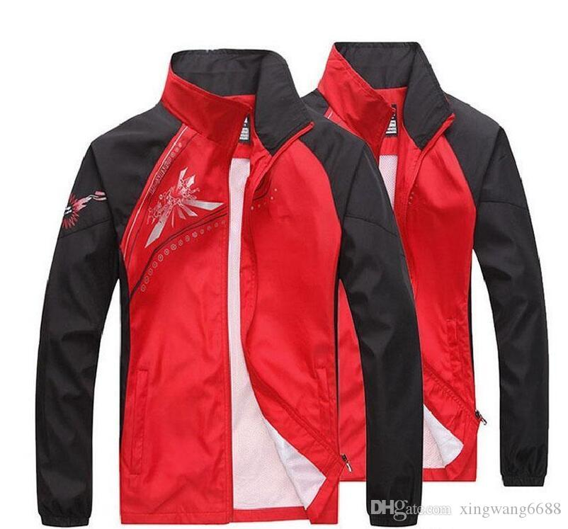 men's tracksuits patchwork sportswear coats jackets+pants sets mens hoodies and sweatshirts outwear suits