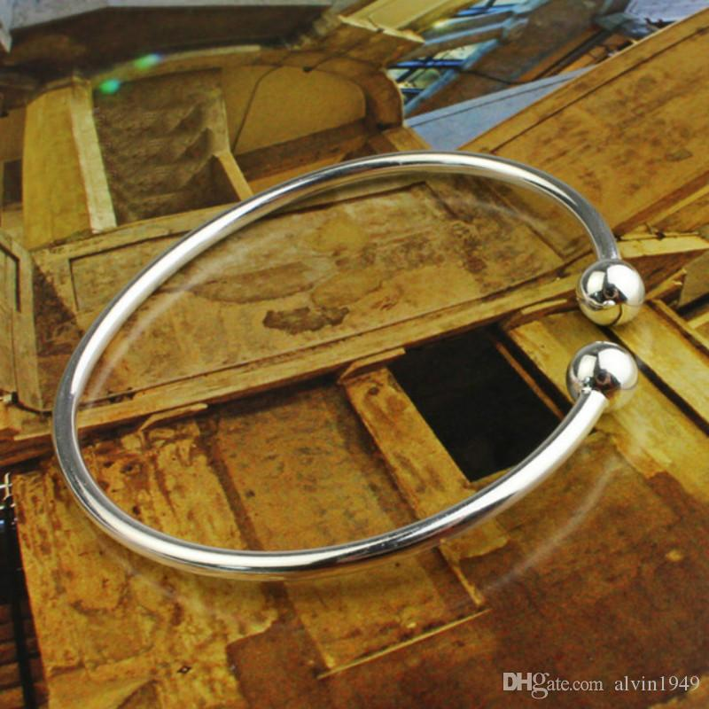 النساء أساور 925 الفضة الاسترليني سوار جديد قابل للتعديل الكفة المفتوحة أساور أساور الأزياء والمجوهرات هدايا العيد