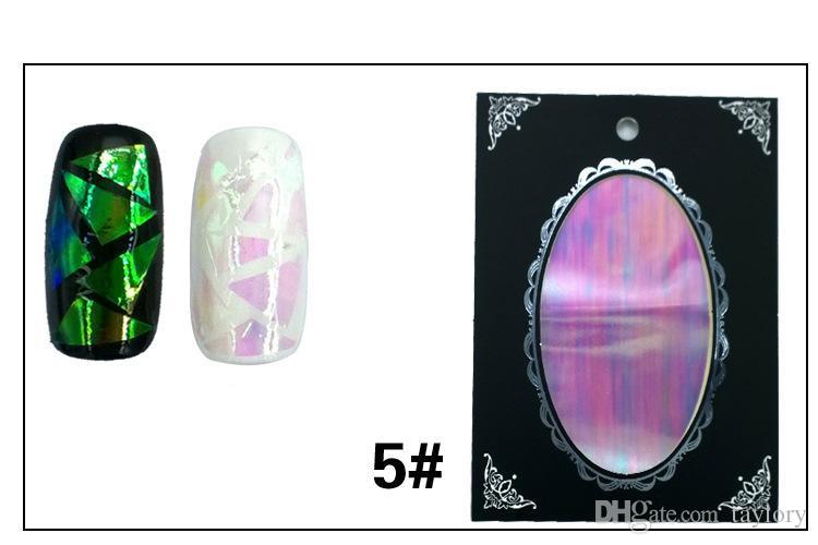 Explosion Of South Korea Manicure Irregular Glass Lights Shining Platinum Paper Mirror Platinum Paper Candy Colored Stickers