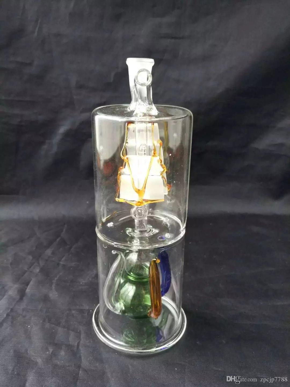 Vela sob o vidro de água Snuff Bottle Gourd, Bongos por atacado Queimador de óleo Tubos de vidro Tubos de água Tubulação de vidro Oil Rigs Smoking Free Shippi