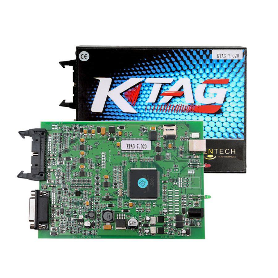 NEW V2 23 KTAG ECU Programming Tool Firmware V7 020 KTAG Master Version  with Unlimited Tokens K-TAG ECU Programmer Best Quality