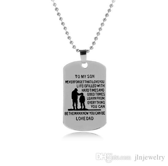 Wholesale jln customized necklaces dog tags dad to son pendant wholesale jln customized necklaces dog tags dad to son pendant personalized name father son dog tag engraving alloy pendant necklace rose pendant necklace aloadofball Choice Image
