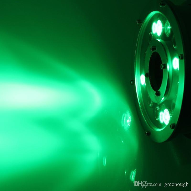 AC / DC24V CONDUZIU a Fonte de Luz 12 W IP68 À Prova D 'Água Luz Subterrânea Piscina Luz Piscina RGB LED Pond Luzes de Iluminação Submersível