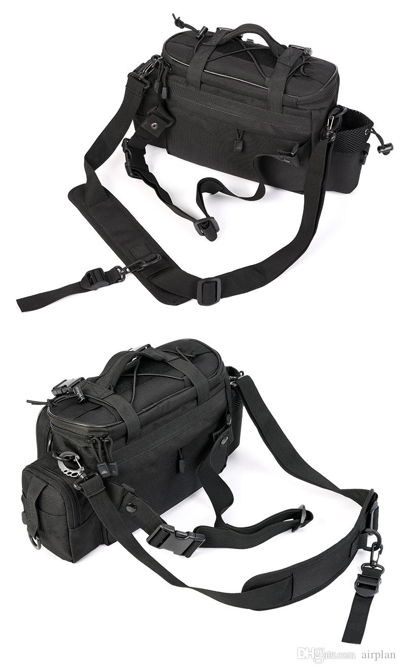 Outdoor Multifunctional Large Oxford Capacity Waterproof Fishing Bags Sports Waist Shoulder Pack Lures Fishing Tools Pesca Black Color