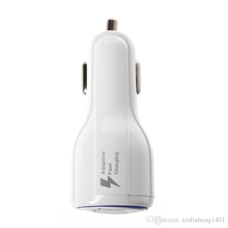 Bestsin Qc 3.0 Fast Car Charger Alta calidad Dual USB LED Fast Charging Cargador de teléfono para Samsung S9 s8