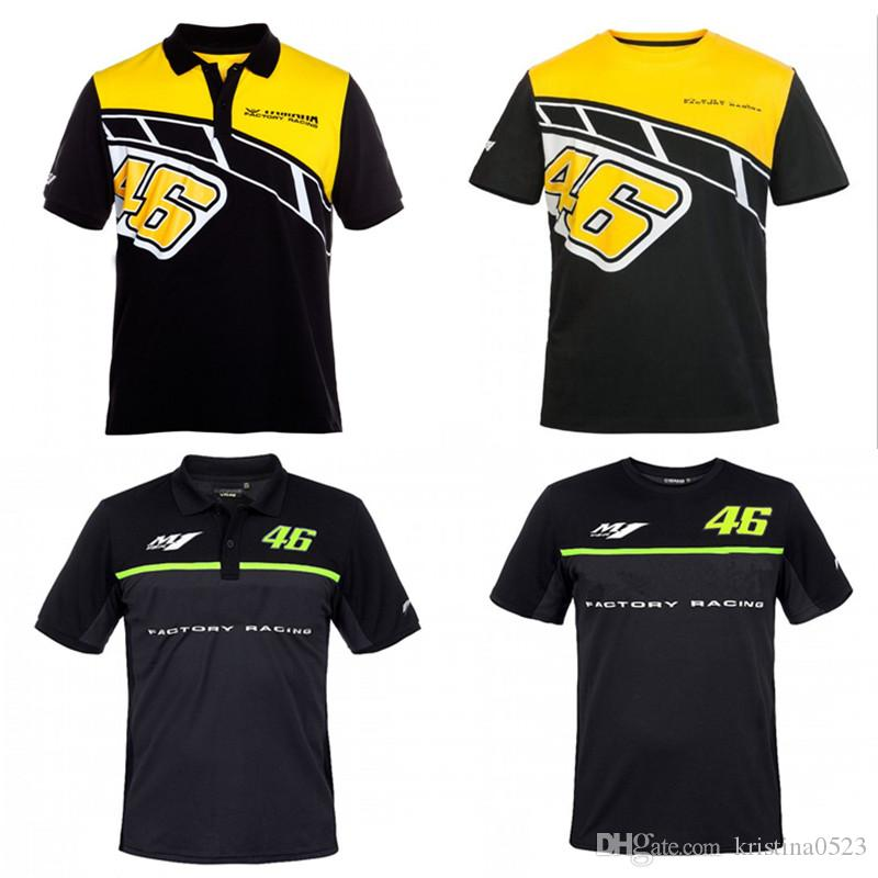 2a9032bdca5a 2019 Men S Leisure Sports Motorcycle Riding POLO Cotton Short T Shirt For Yamaha  Valentino Rossi VR46 T Shirt 46 The Doctor From Kristina0523