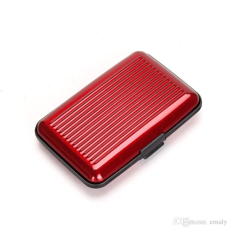 / Hot Aluminium Carte de crédit porte-monnaie portefeuille titulaire de la carte cas de la banque portefeuille en aluminium couleur variable pour la livraison gratuite