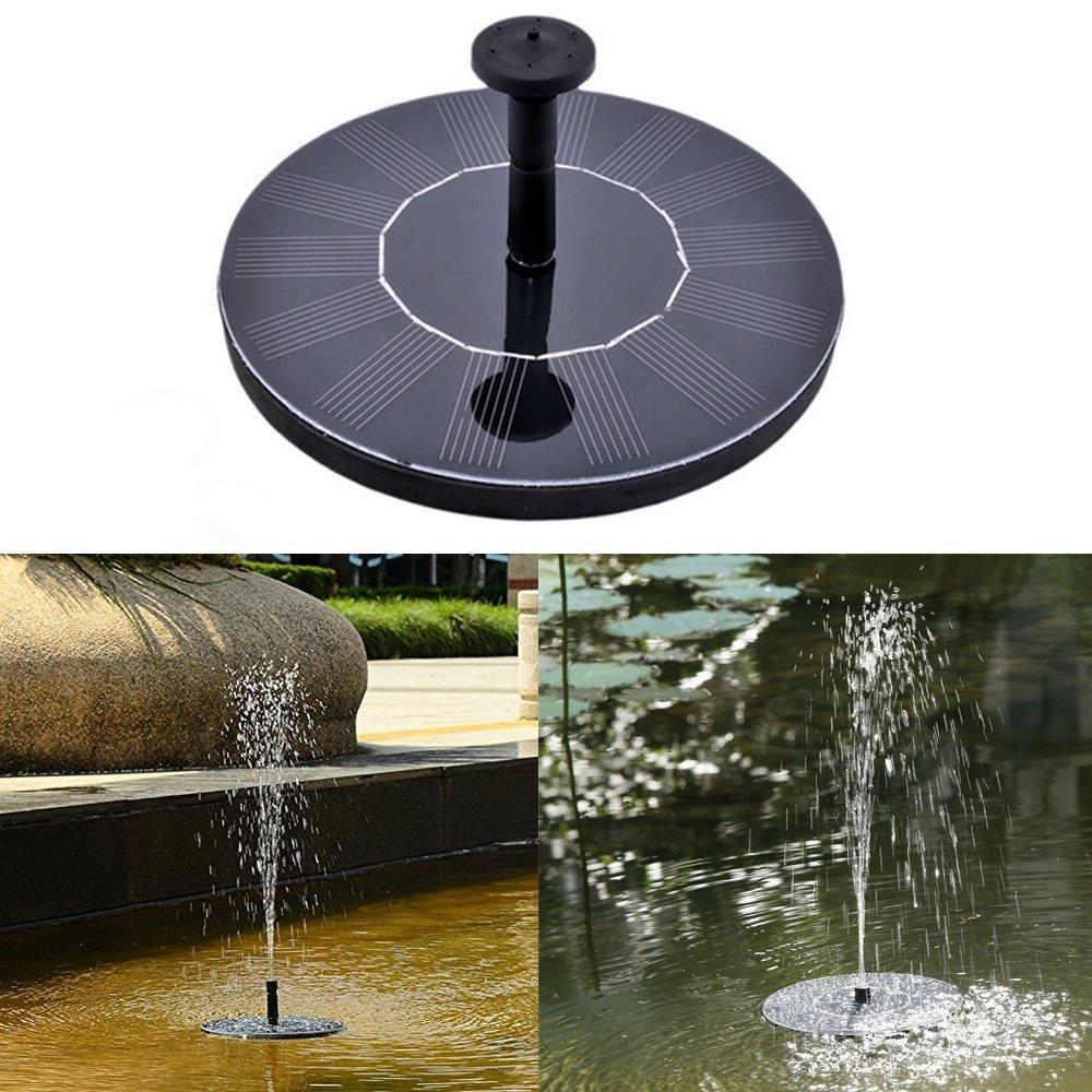 Solar Wasser Brunnen Pumpe schwimmende Wasser Pumpe 7V / 1.4W Sonnenkollektor Garten Pflanzen Wasser Macht Brunnen Pool für Garten Patio Teich Wasserfälle