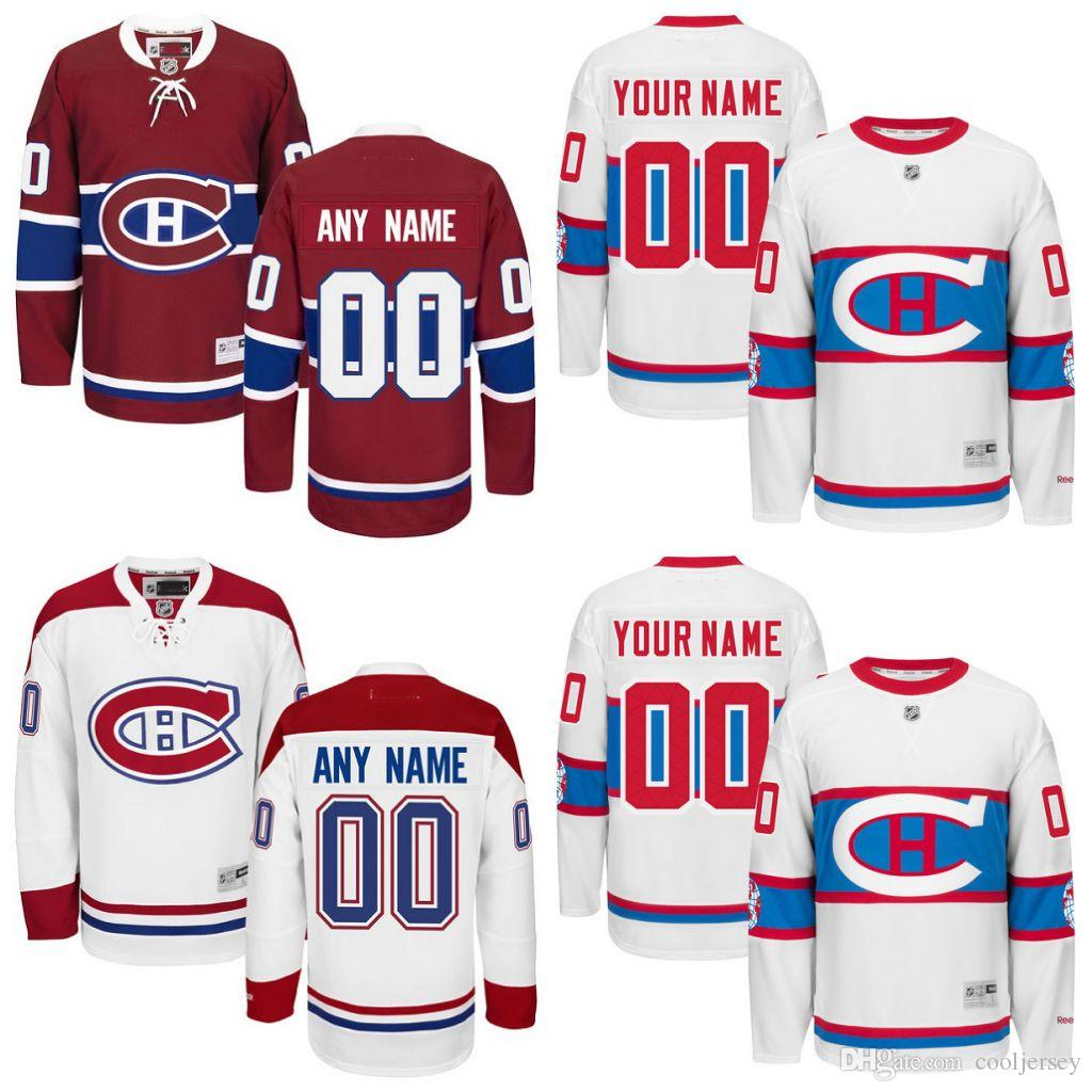 c9e6d2ea2df 2019 Cheap Hockey Jerseys Montreal Canadiens Custom Montreal Canadiens  Jersey Any Name Any Number