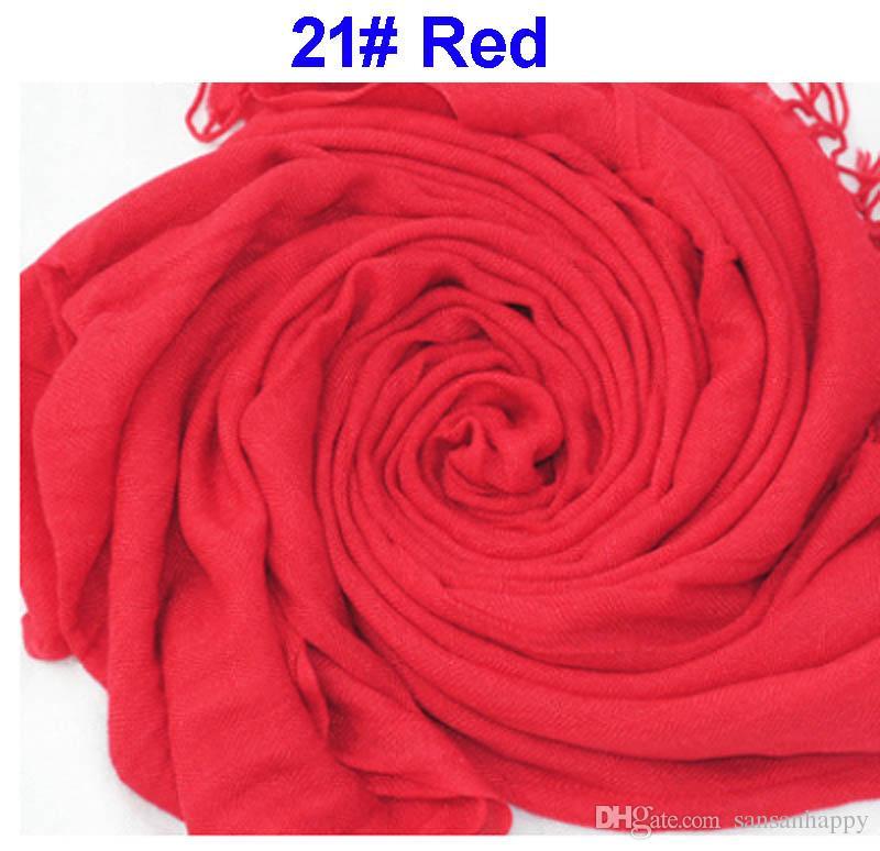 DHL бесплатная доставка Оптовая 40 шт. пашмины кашемир шелк сплошной платок Wrap унисекс шарф женщин шарф чистый 40 цвет шарф