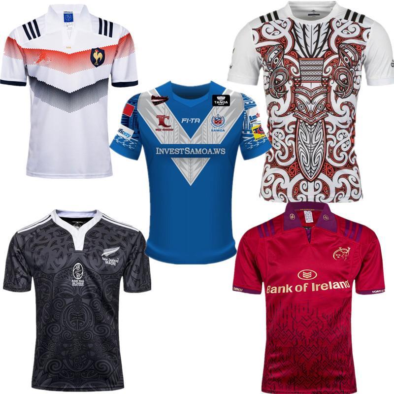 Compre 2017 França Rugby Jersey Francês 2018 Top Quality Camisas De Rugby  Camisas De Treinamento Homens Alternate Super Euro Tamanho S 3XL De ... 100c87cd057ff