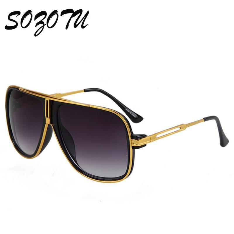 e718677a458a0 Compre Atacado Moda Tendência Óculos De Sol Homens Mulheres Metal Frame  Óculos De Sol Designer Para O Sexo Masculino Feminino Photochromic Máscaras  Uv400 ...