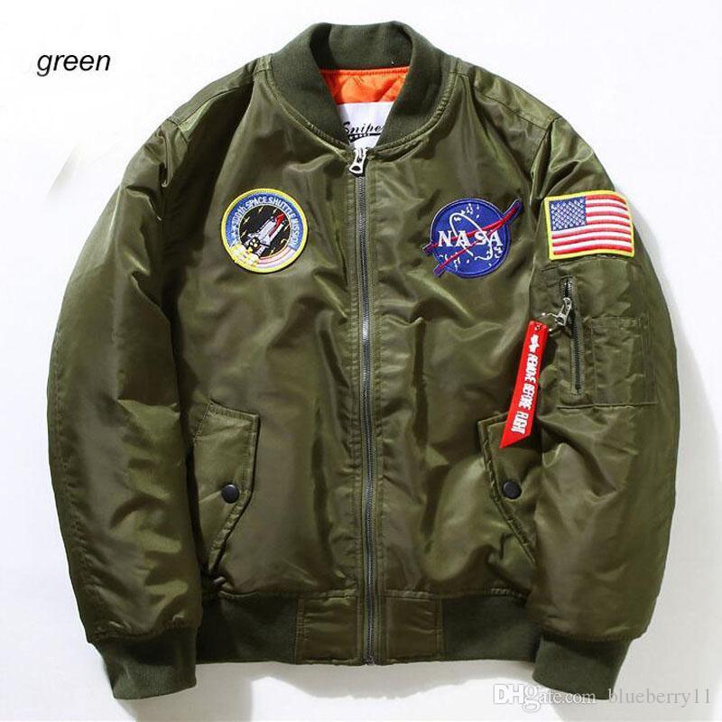 Fall-Flight Pilot Jacken-Mantel-Bomber Ma1 Männer Bomber-Jacken-Stickerei-Baseball-Jacken M-XXL freies Verschiffen