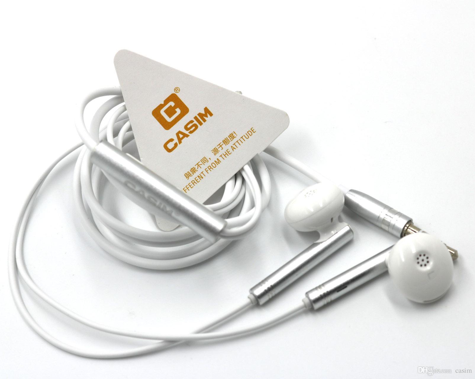 CASIM Yeni 3.5mm Evrensel Metal Müzik Kulaklık 1.2 M Bakır Tel Kulaklık Gürültü Izole Stereo Metal Düz kulak tarzı Kulaklıklar Sıcak