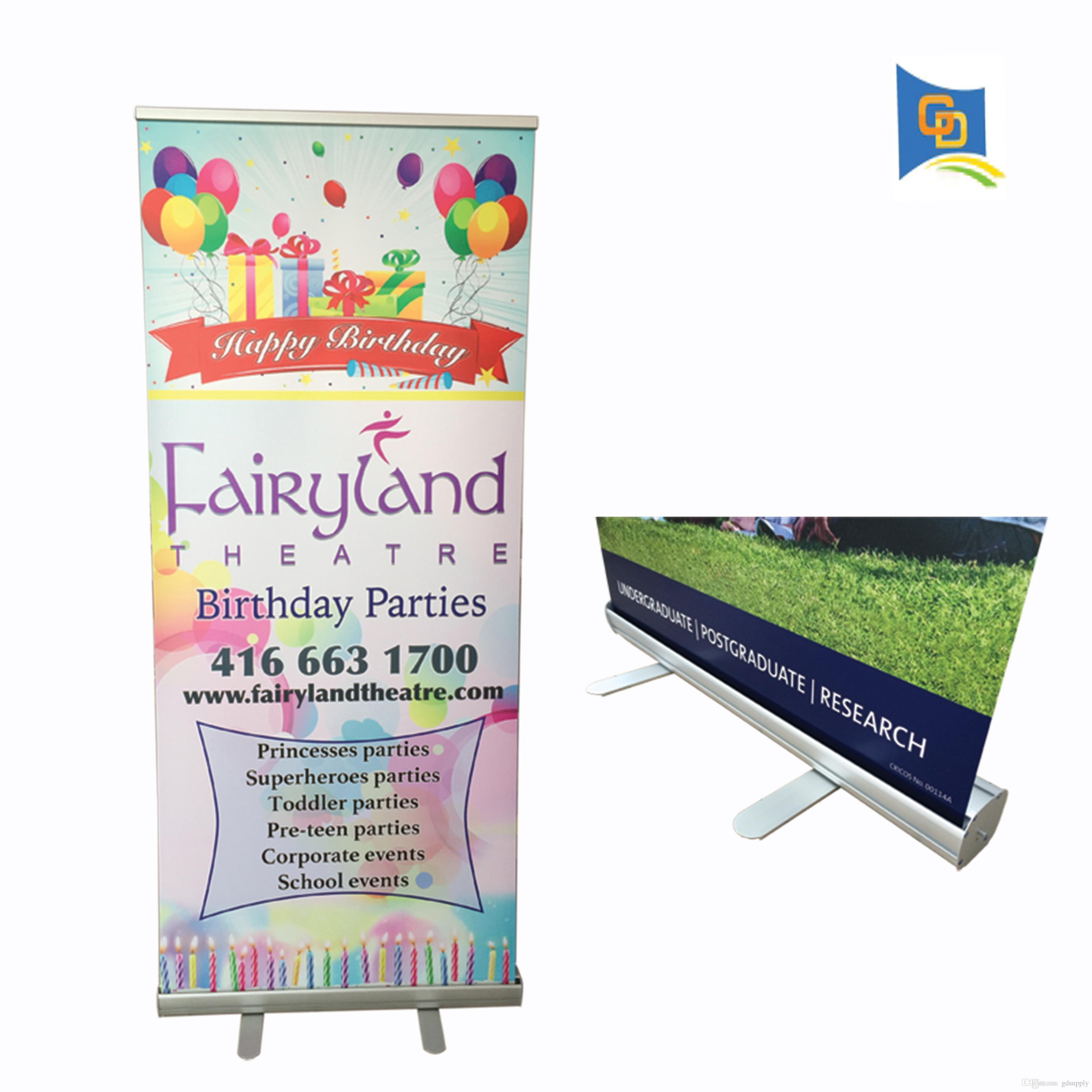 33 46*78 74inch High-quality Thicker Aluminum Retractable Roll Up Display  Banner Stand with Graphic for Trade Show Advertising