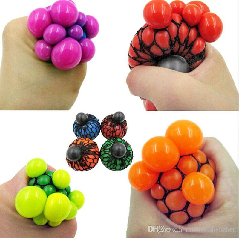 6 CM Nette Anti Stress Gesicht Reliever Grape Ball Autismus Stimmung Squeeze Relief Gesunde Spielzeug Lustige Geek Gadget Vent Dekompression spielzeug B001