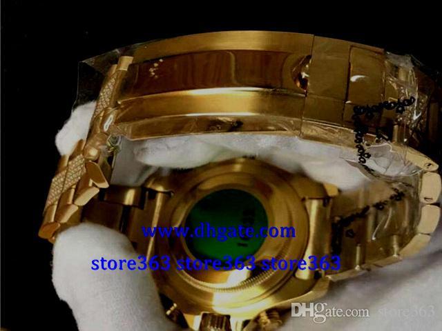 4 style MENS SWISS WATCH 116680 white dial big Diamond Bezel 40MM 18k Yellow gold dial Gold Diamond strap Automatic Watch
