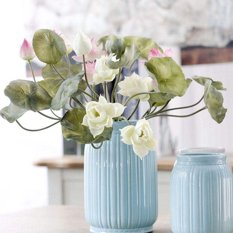 2017 nova tigela planta de lótus planta de lótus vasos de bonsai família, belo lótus bonsai arranjo de flores frete grátis