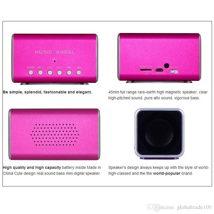 100% Original Music Angel JH-MD05BT Mini Portable Bluetooth Speaker Stereo Wireless Speakesrs With Support TF Card Best Quality JH-MD05BT3