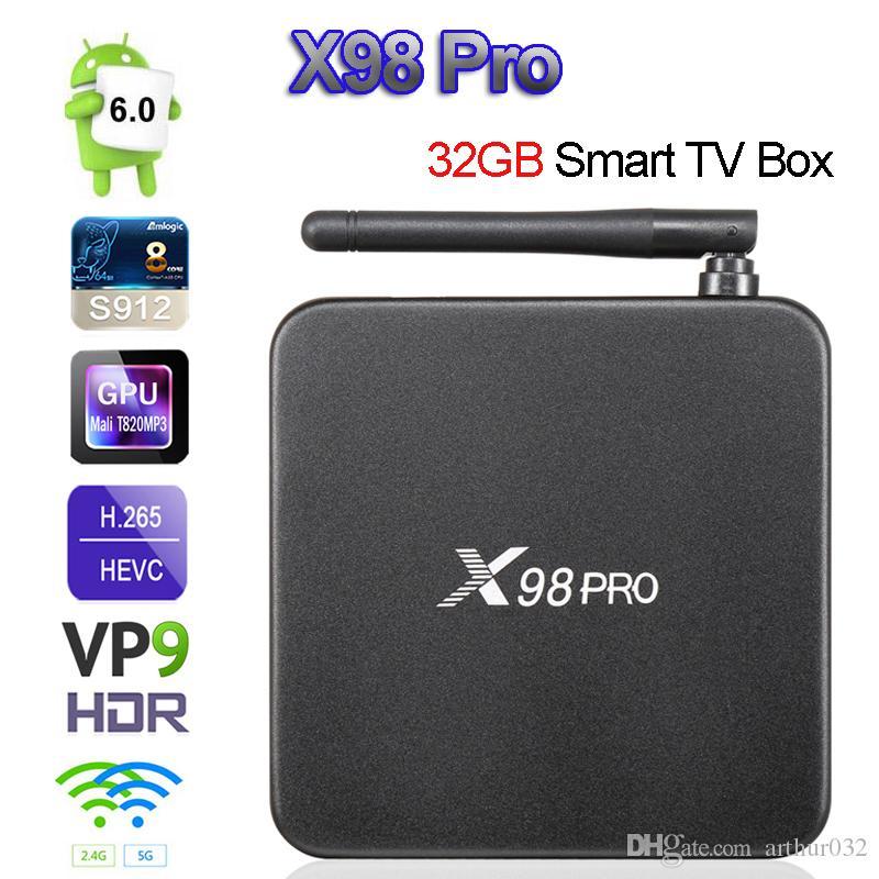 X98 PRO Amlogic S912 3GB/32GB Android 7 1 TV Box 3GB/16GB Octa Core 64Bit  2 4/5G Wifi 4K H 265 X98PRO Smart Set Top Box Media Player