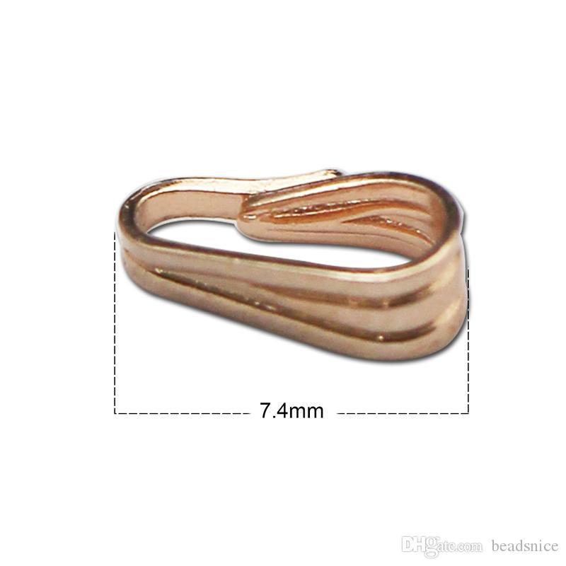 Beadsnice стерлингового серебра 925 оснастки на поручительств кулон щепотку поручительств простой основной классический DIY ручной работы выводы ID 27435